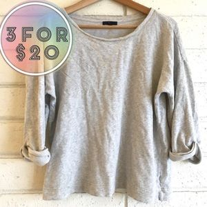 GUC Gap Light Heather Gray Pullover Cotton Sweater